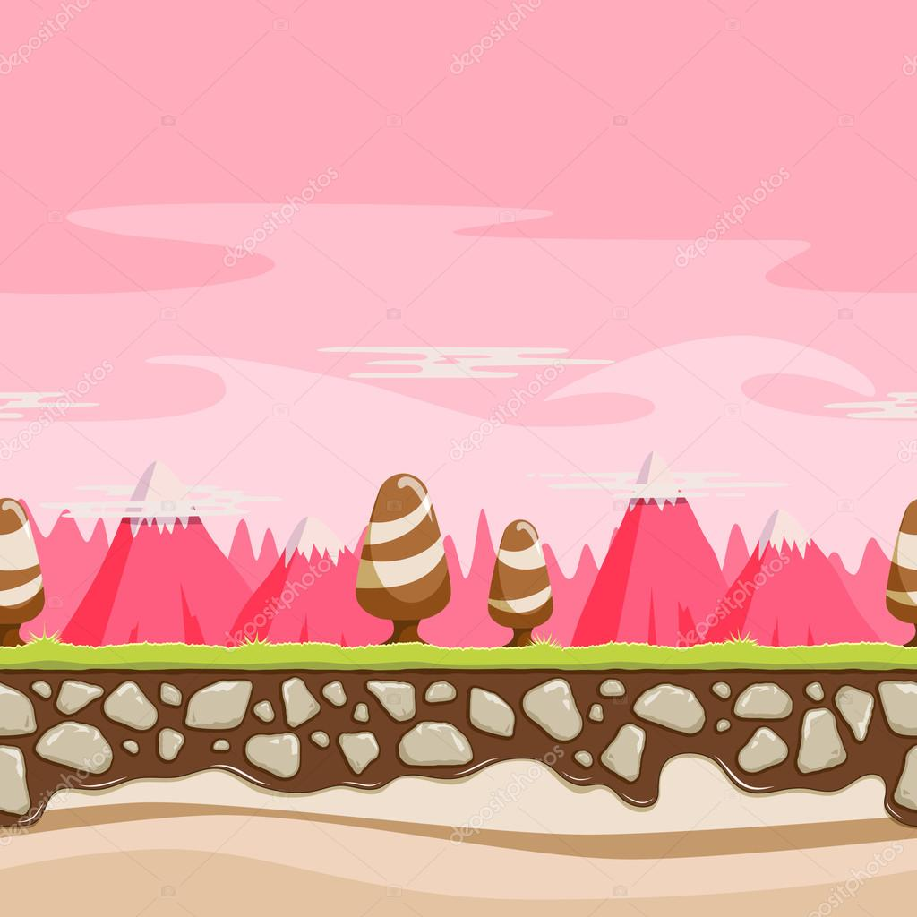 Seamless Repeating Cartoon Background
