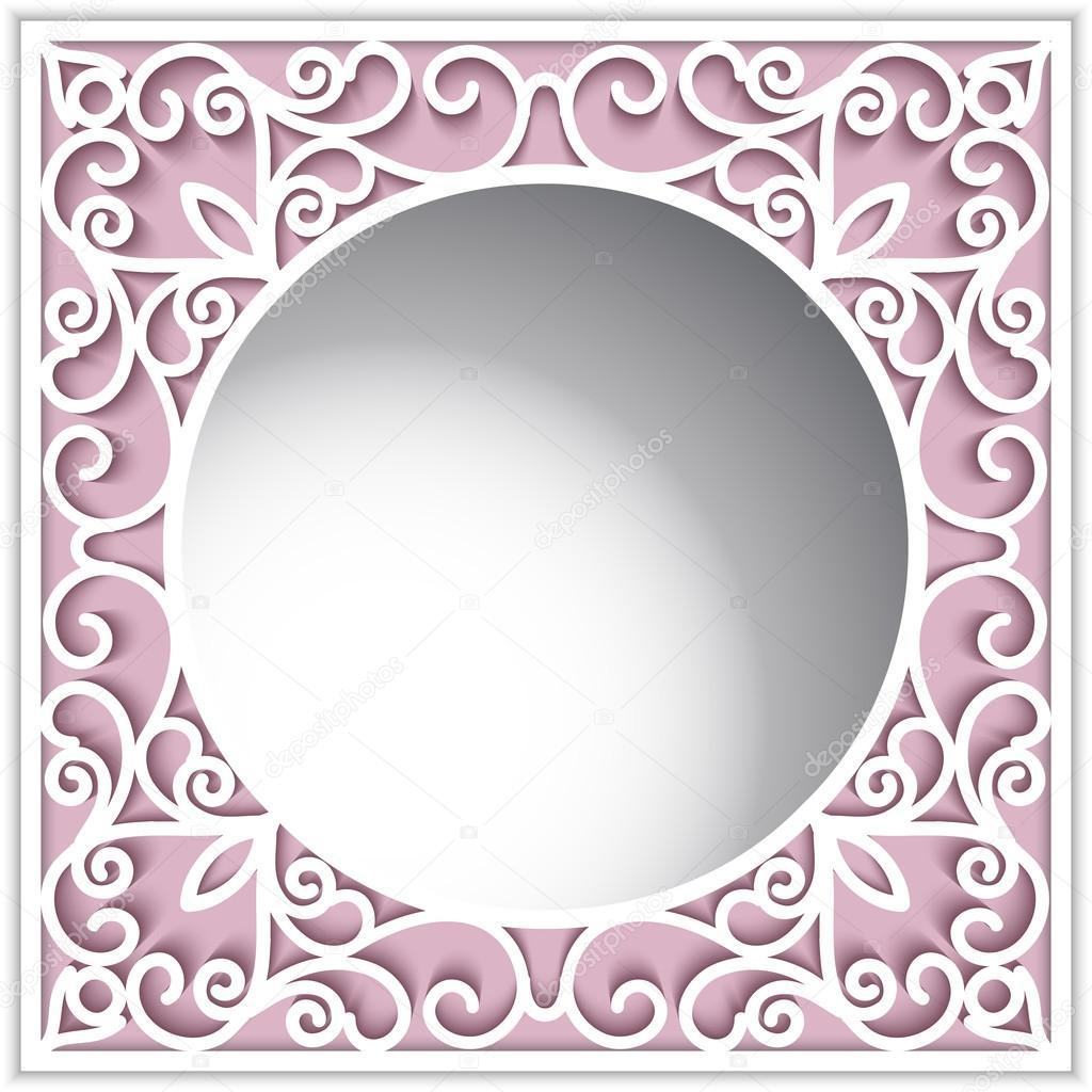 Marco de papel ornamental con agujero redondo — Vector de stock ...