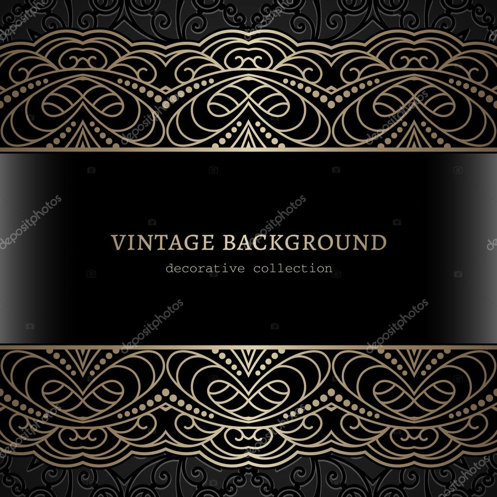 a3b61adf35 Vintage gold frame with lace borders — Stock Vector © magenta10 ...