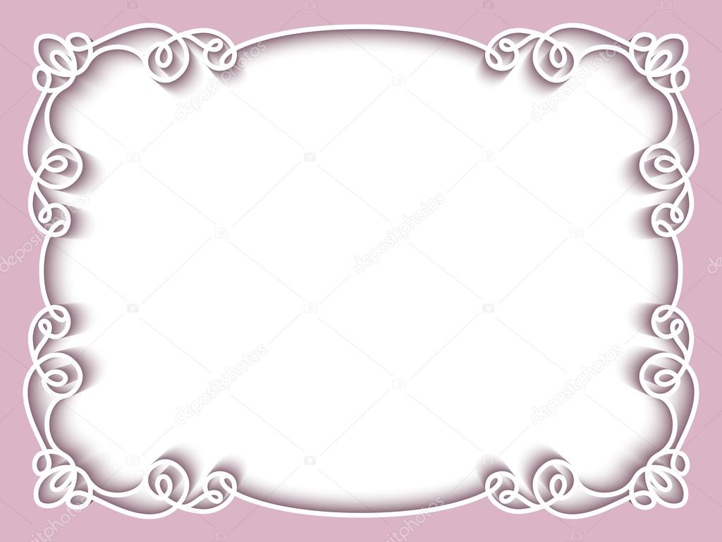 Marco de papel rectangular, plantilla de tarjeta de felicitación ...
