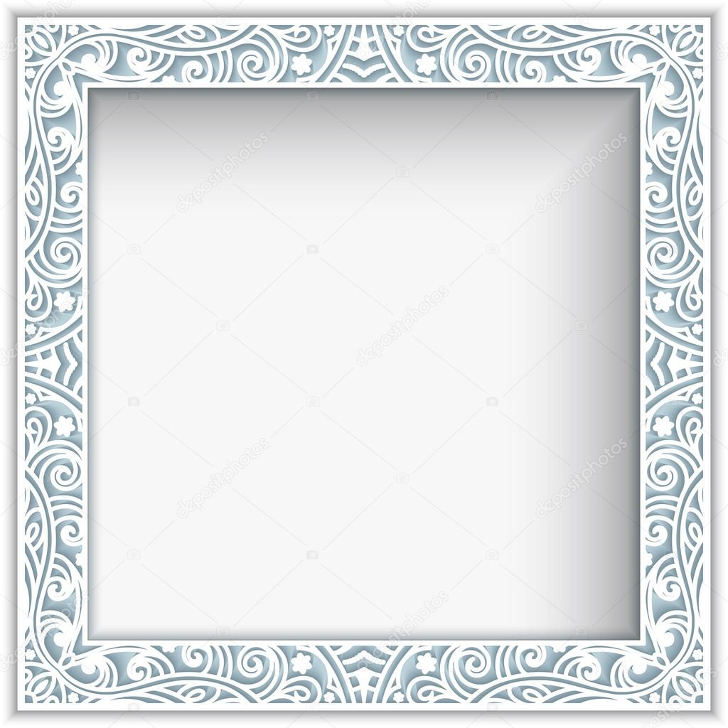 Square paper lace frame — Stock Vector © magenta10 #105122888