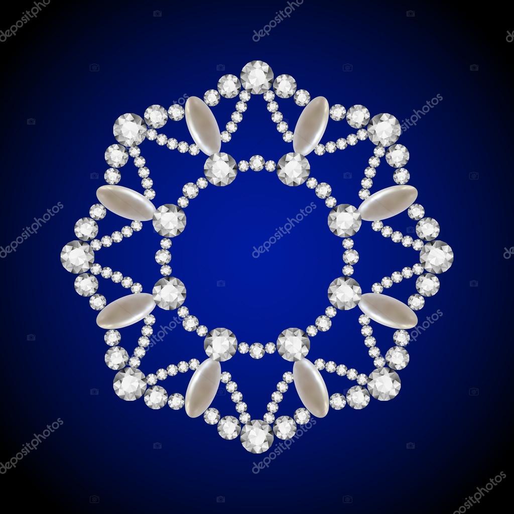 Colgante de diamante redondo, marco de círculo de joyería — Archivo ...