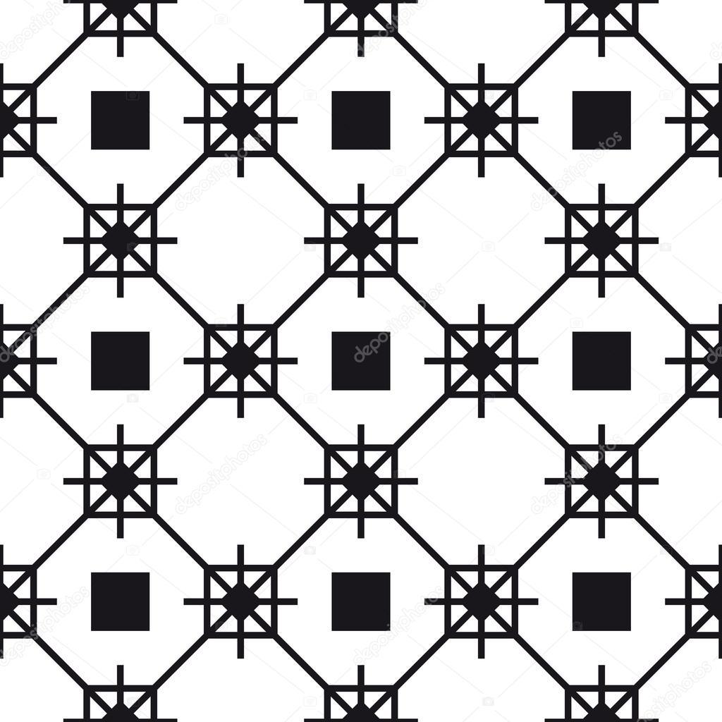 patrón de enrejado blanco y negro — Archivo Imágenes Vectoriales ...