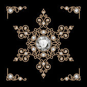 Gold jewelry snowflake