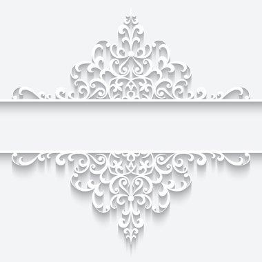 Ornamental paper frame