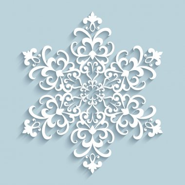 Paper lace snowflake