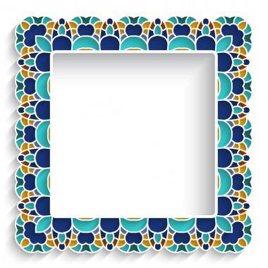 Square mosaic frame
