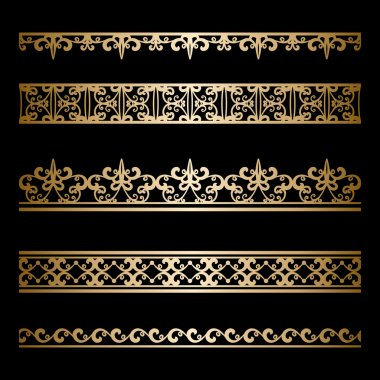 Gold border set