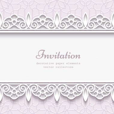 Paper lace border background
