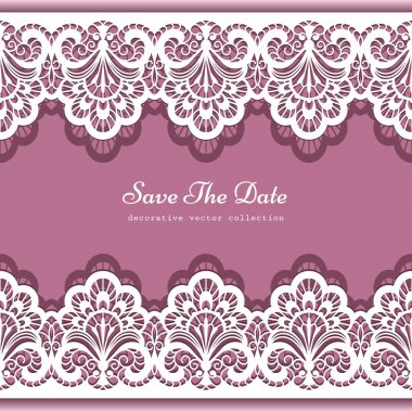 Elegant background with lace border ornament