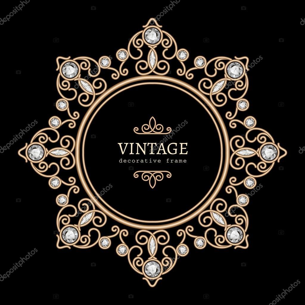 or bijoux rond cadre — image vectorielle magenta10 © #82868424