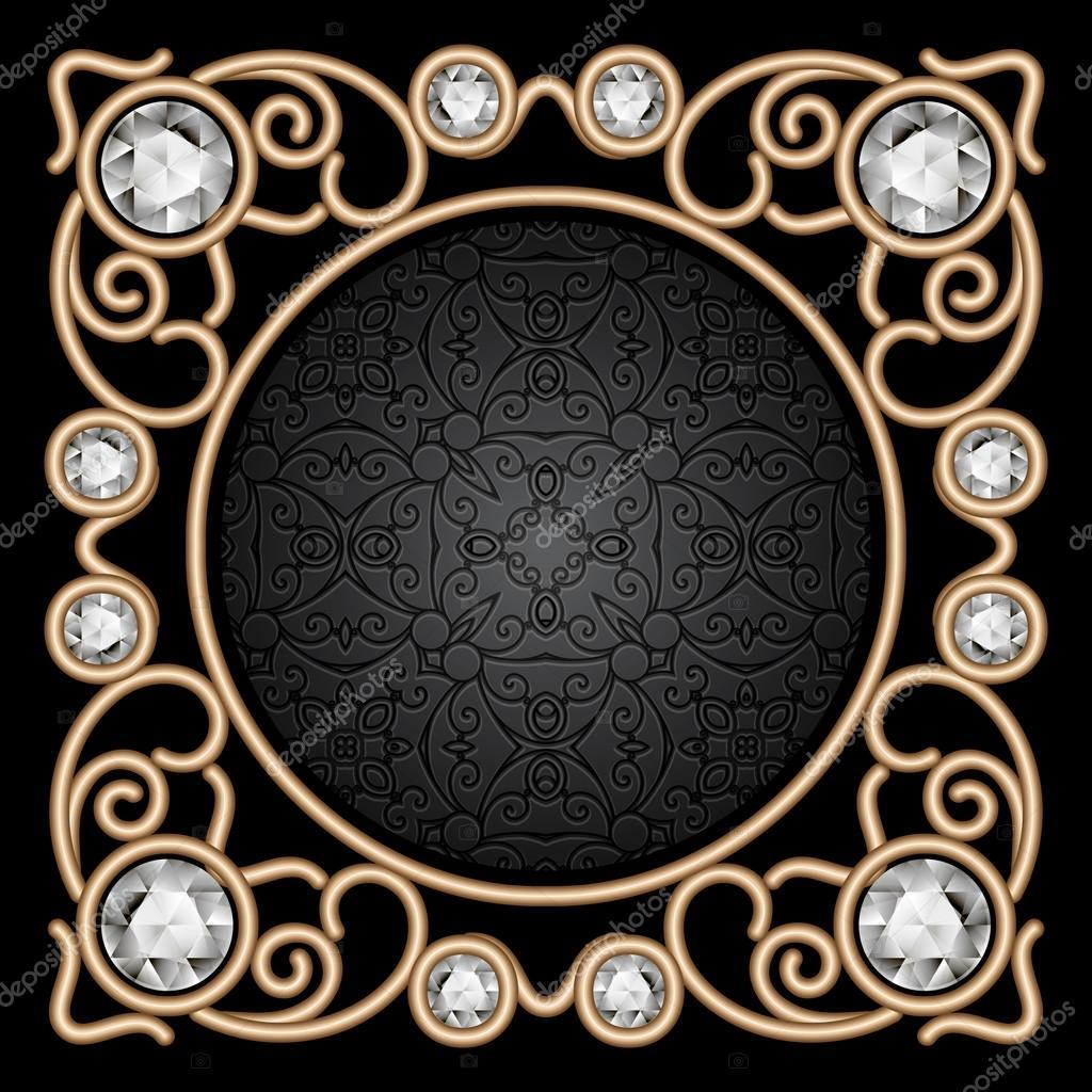 marco de joyas de oro Vintage — Vector de stock © magenta10 #82868450