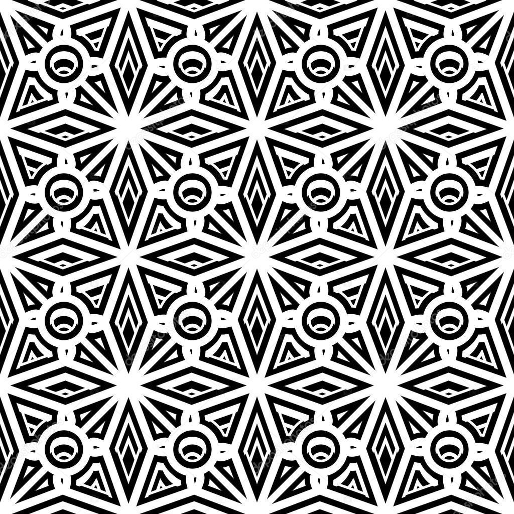 картинки черно-белый орнамент