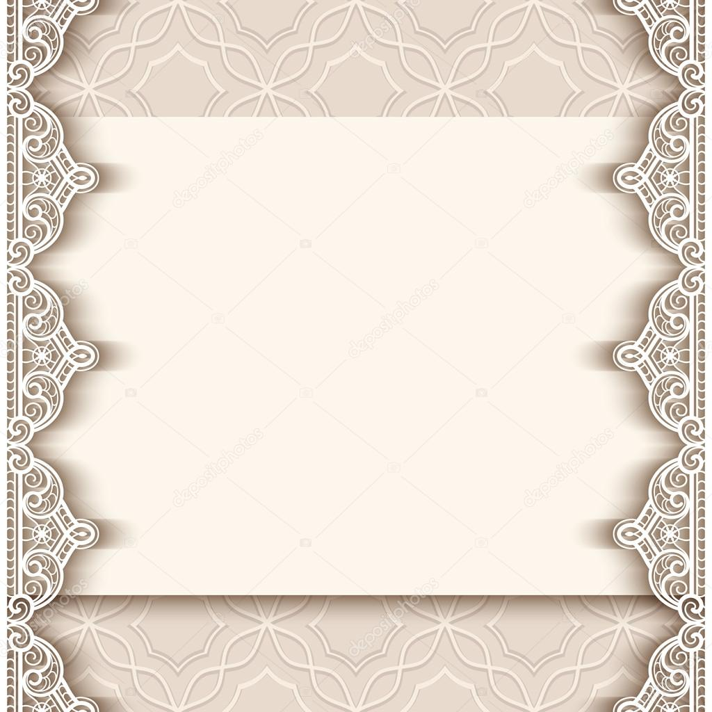 10313ddf86 Vintage paper background with lace borders — Stock Vector ...