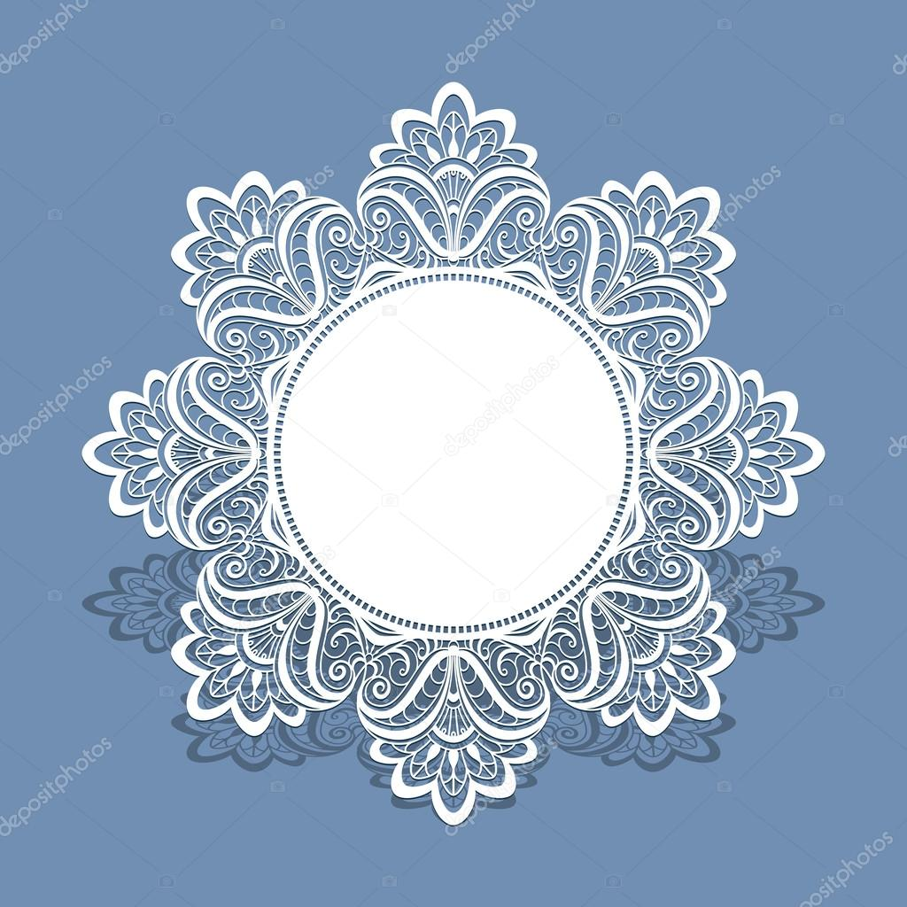 Lace doily, greeting card or wedding invitation — Stock Vector ...