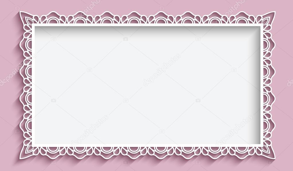 Rechteck-Rahmen mit Papier Spitze Grenze — Stockvektor © magenta10 ...