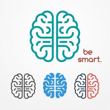 Brain logo set