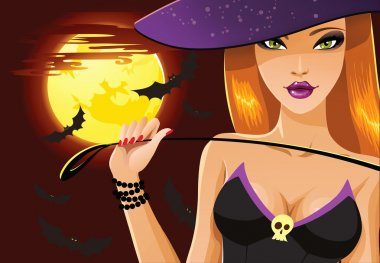 Cute sexy Halloween witch