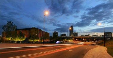 Centrum of Katowice in the ewening.