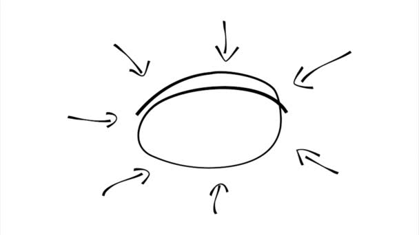 Nincs hangfelvétel, kézzel rajzolt nyíl mutat ovális terület fehér háttér