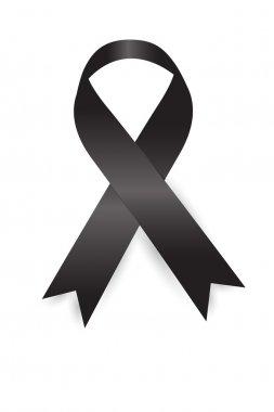 Black Ribbon on white background