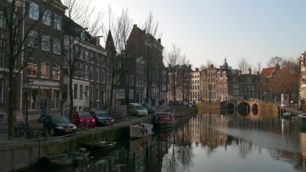 City View průplav Amsterdam Nizozemsko Nizozemsko brzy ráno