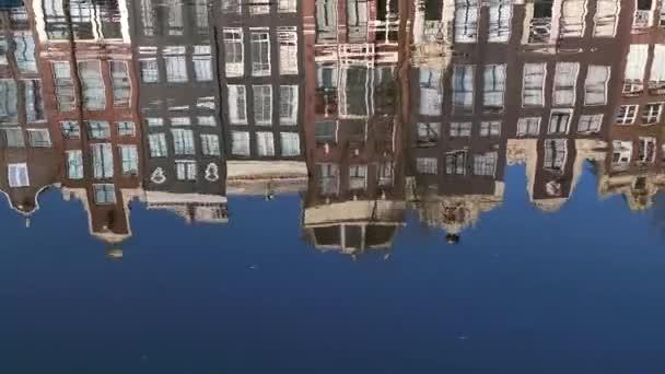 Tradiční domy domy budovy reflexe Amsterdam City město vodní kanál