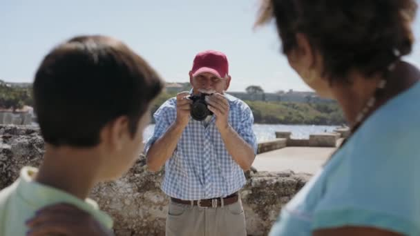 11-Family On Holidays In Cuba Grandpa Tourist Taking Photo