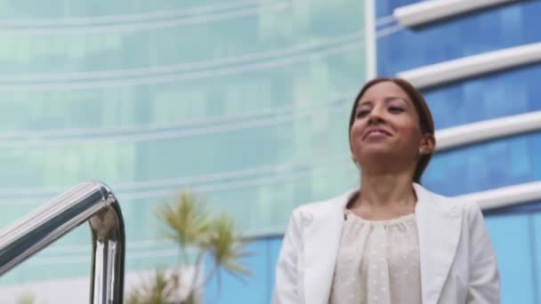 1of6 Proud businesswoman walking, office building, success, people, career