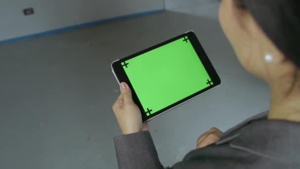 Počítače Pc dívka žena podnikatelka manažera Ipad Screen Monitor