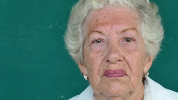 13 Hispanic Old People Portrait Serious Senior Woman Face Expression