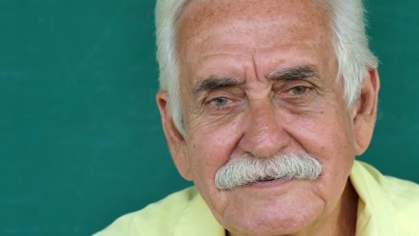 4 Hispanic People Portrait Happy Old Man Smiling At Camera
