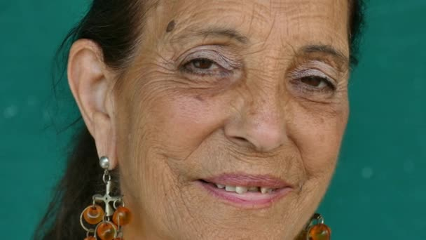 19 Hispanic People Portrait Happy Elderly Woman Smiling Face
