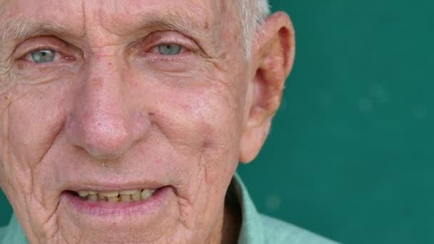 25 White People Portrait Happy Senior Man Smiling At Camera