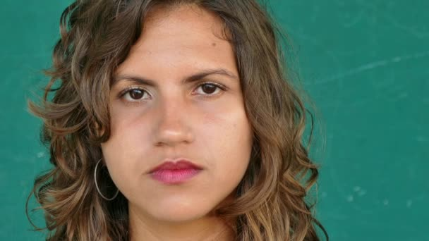 38 Hispanic People Portrait Young Sad Woman Face Expression