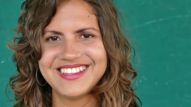 39 Hispanic People Portrait Happy Young Woman Smiling At Camera
