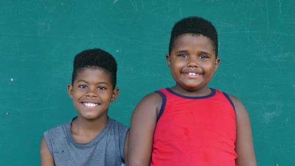 50 Black Kids Portrait Happy Children Brothers Smiling At Camera