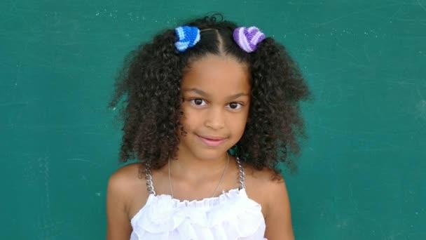 69 Hispanic Children Portrait Happy Young Girl Smiling At Camera
