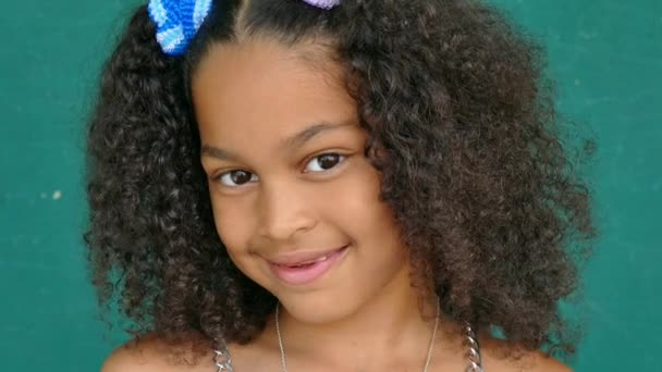 70 Black Children Portrait Happy Young Girl Smiling At Camera