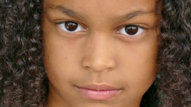 71 African American Children Portrait Happy Young Girl Smiling Face