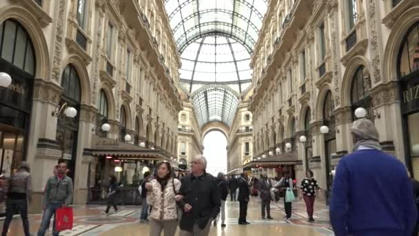 Galleria Vittorio Emanuele Shops Stores People Tourists Shopping Milan Italy