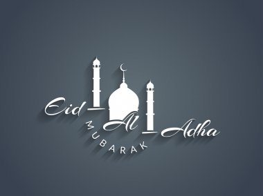 Beautiful text design of Eid Al Adha mubarak.
