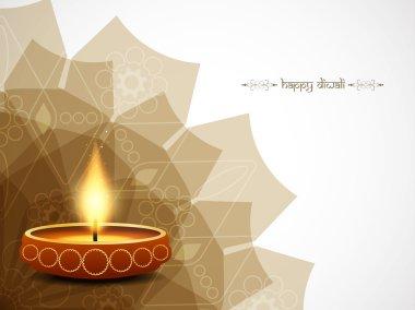 Happy Diwali card design. Vector illustration stock vector