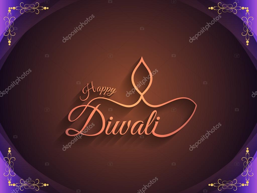 Religious background design for Indian festival Diwali.