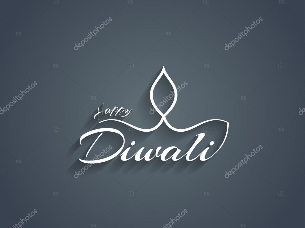 Beautiful Happy Diwali text design.