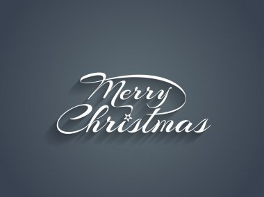 Merry Christmas text design.