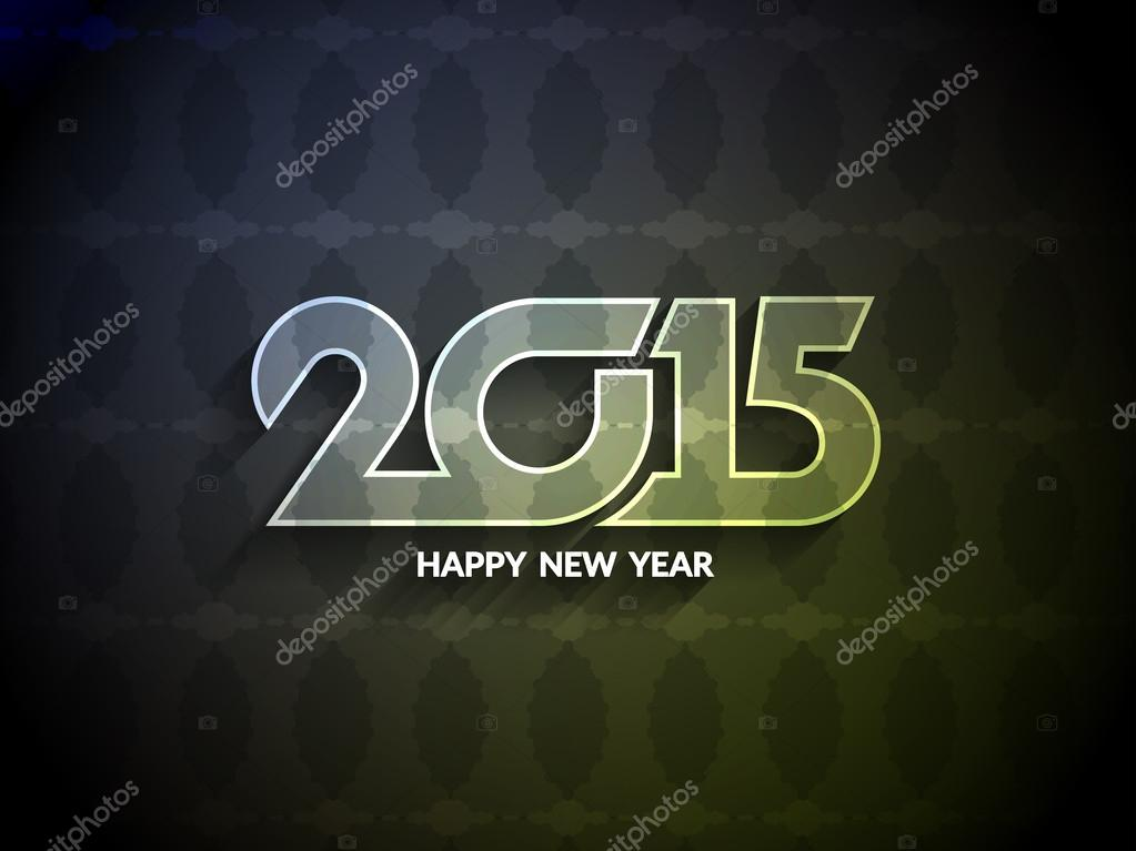Beautiful greeting card design for happy new year 2015 stock beautiful greeting card design for happy new year 2015 stock vector m4hsunfo