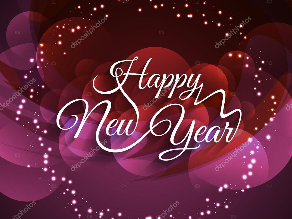 Beautiful glowing background with elegant text design of Happy New ...