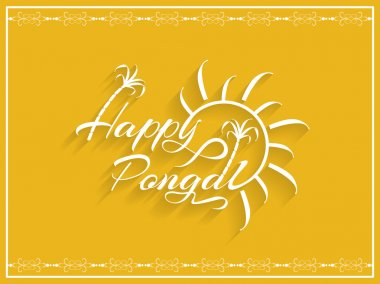 Beautiful background design of Happy Pongal.