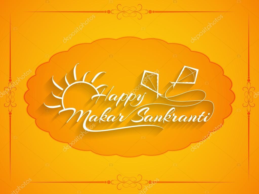 Elegant background design of Makar Sankranti.